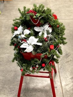 Item W - Decorative Antique High Chair