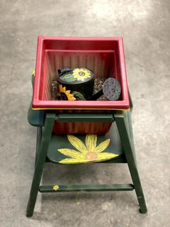 Item X - Hand-Painted Planter Box