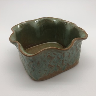 Square Scalloped Edge Bowl