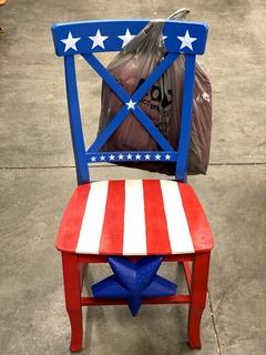 Item ZA - USA Flag Themed Chair