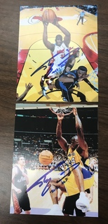Shaquille O'Neal 2 8x10 Autographed Photos