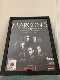 Framed and Signed Maroon 5 Poster