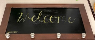 Item ZZZH - Erasable Wall Decor with Hooks