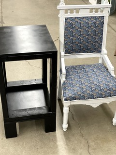 Item ZZZW - Reupholstered Chair and Table