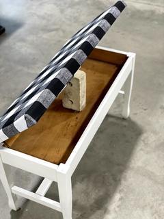 Item ZZZY - White & Plaid Bench