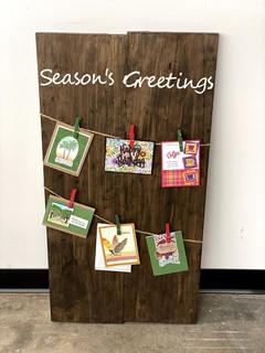 Item ZZZZB- Season Greetings Card Holder