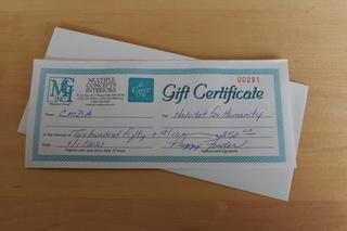 $250 Gift Certificate for MCI CarpetOne Floor & Home