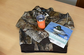 Tri-Mountain Camo Jacket (Small) from Thermo-Tech & Orange Insulated Rock Creek Coffeehouse Mug
