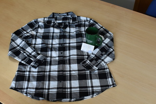 Black & White Flannel Shirt (XL), Rock Creek Coffeehouse Mug & Giftcard