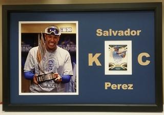 Salvador Perez Signed Card Display