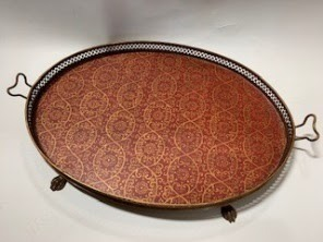 Hand Painted Tole Serving Tray