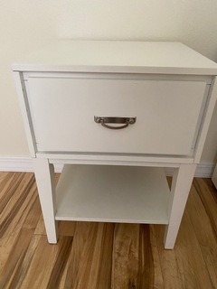 Pair of White End Tables w/ Drawers