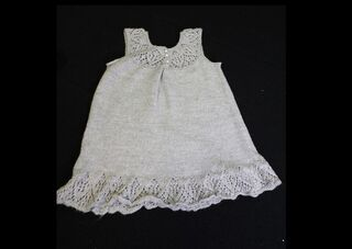 Hand Knitted Grey toddler dress