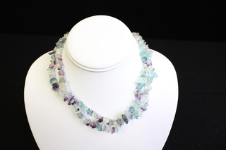 Purple Florite necklace
