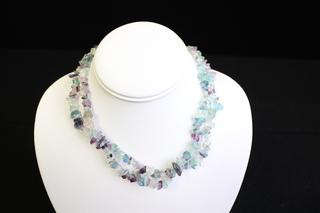 Purple Florite necklace