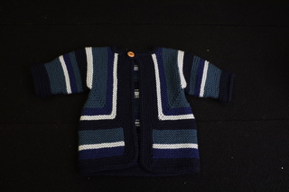 Hand Knitted Blue and White sweater
