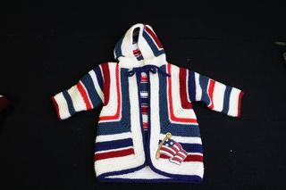 Hand Knitted Americana Sweater