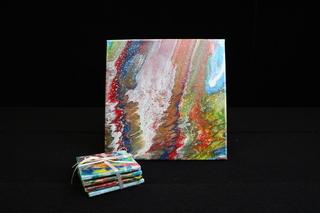 Rainbow Coaster set with Canvas
