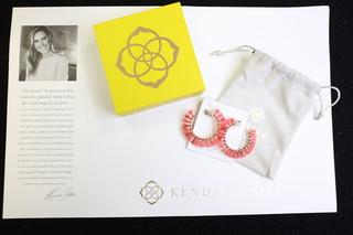 Kendra Scott Coral Hoop Earrings