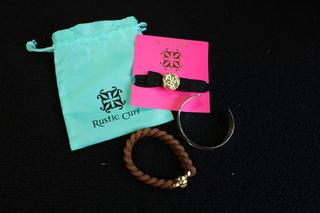 Set of Rustic Cuff Bracelets