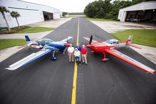 Aerobatical flight with Patty Wagstaff