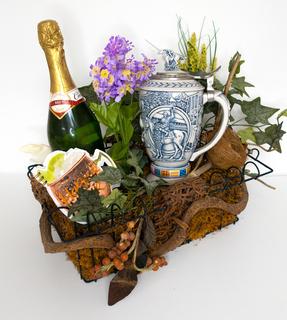 Stein & Champagne Gift Basket