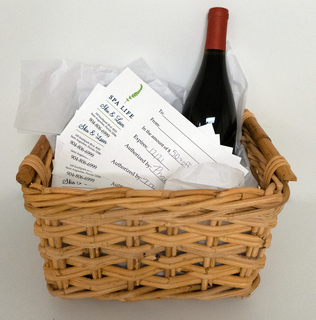 Spa Life Gift Basket and Certificate
