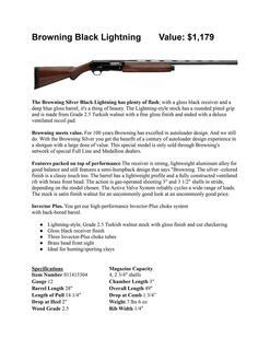Browning Black Lightning Shotgun