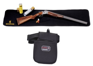 Browning Gun Cleaning Mat & Shooting Pouch with Belt