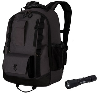Browning Flashlight and Backpack