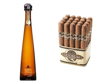 Don Julio - Tequila Reposado 1942 édition with 20-Pack Quorum Shade Cigars