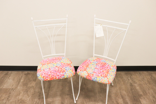 9 - Set of Two Floral Chairs