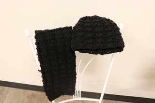 12 - Sparkly Matching Hat and Scarf
