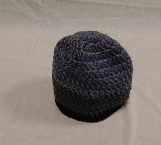 Hat: blue gray/gray/black