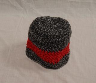 Hat: gray/red/gray