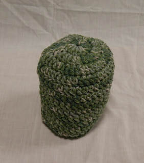 Hat: green and heathered green