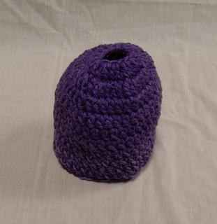 Hat: purple with heathered purple
