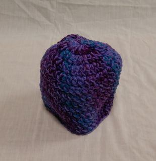 Hat purples in diagonal stripes