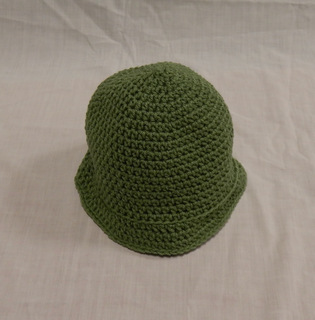 Hat: solid green with flared brim