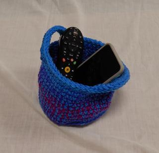 Crocheted bowl caddy
