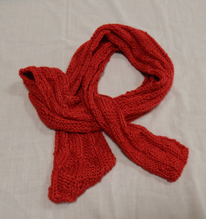 Red Scarf, donated by Carol Turkett, member of SAWS2