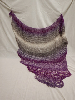 Open weave shawl donated by Carol Turkett, member of SAWS2