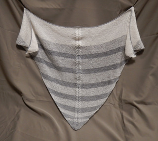 Triangular Shawl in Gray and White, donated by Carol Turkett, member of SAWS2