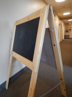 Double-Sided Easel made by Pamela Bradley, member of SAWS2
