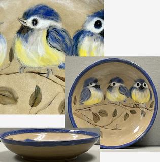 17 - Pottery Bluebird Bowl