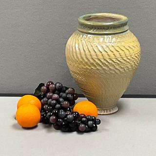 18 - Green-Yellow Pottery Vase