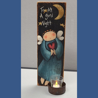 """27 - """"To All a Good Night"""" Candleholder"""