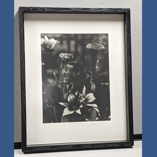 34 - Black and White Flower Photograph