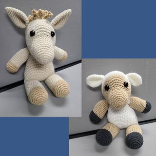39 - Llama and Sheep Crochet Set
