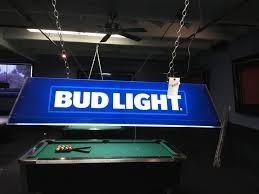 Budlight Pool Table Light